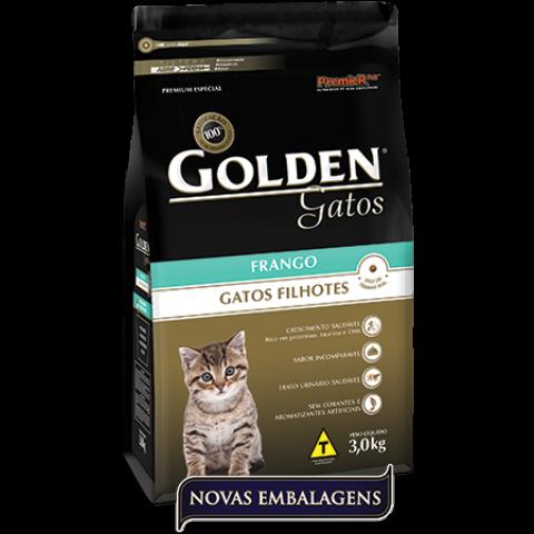 Ração Golden Gatos Filhote Frango 3kg