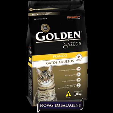Ração Golden Gatos Frango 3 kg