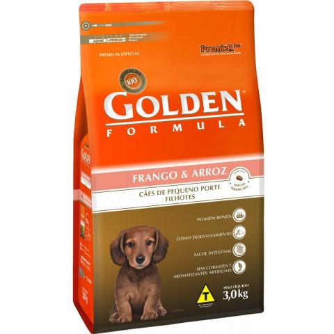 Ração Golden Mini Bits Frango Filhote 3 kg