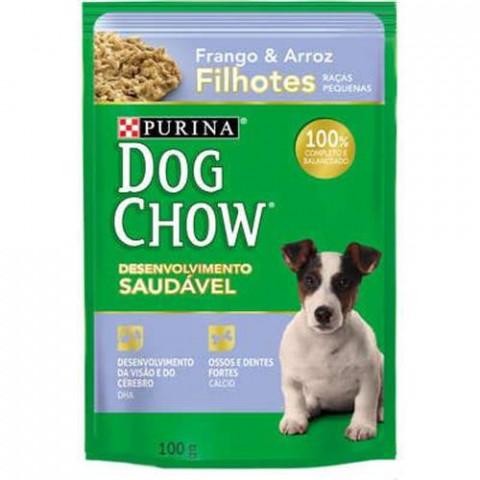 Ração Úmida Nestlé Purina Dog Chow Sachê Frango e Arroz para Cães Filhotes 100g
