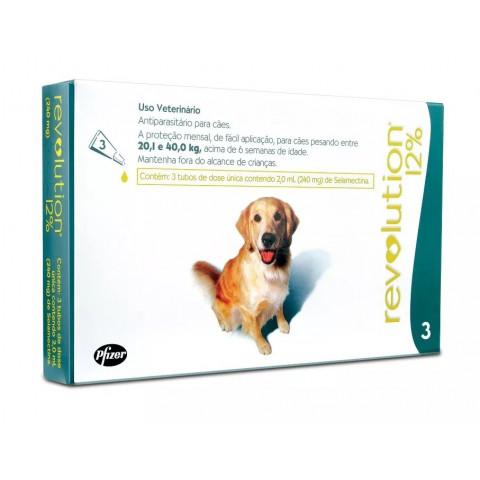 Revolution 12% para cães de 20 à 40kg