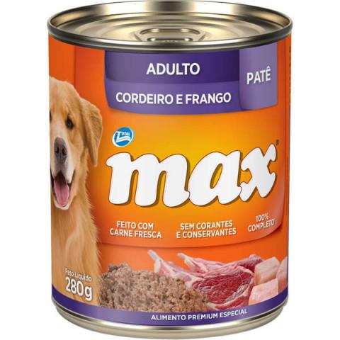 Patê Total Max Cordeiro e Frango para Cães Adultos 280g