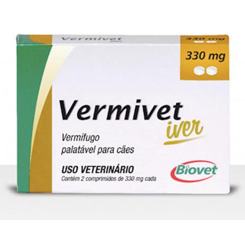 Vermífugo Vermivet Iver 330 mg