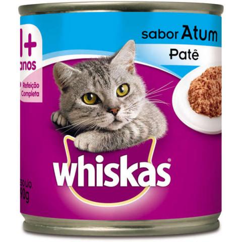 Ração Úmida Whiskas Lata Patê de Atum para Gatos Adultos - 290 g