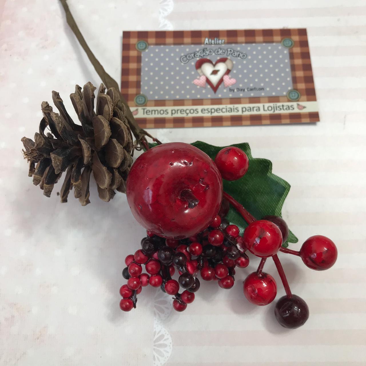 Folhagens de Natal VI - Maçãs e Amoras 20cm