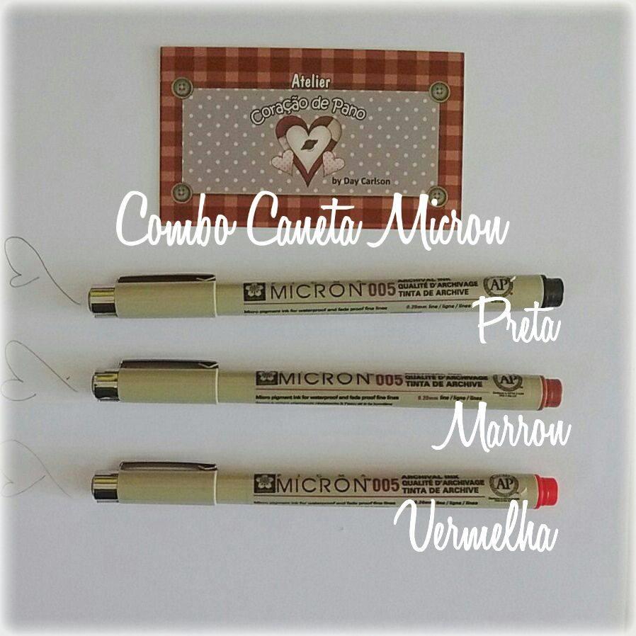Combo Caneta Micron 005 - 3 cores Para Rostinho de Bonecas (2)
