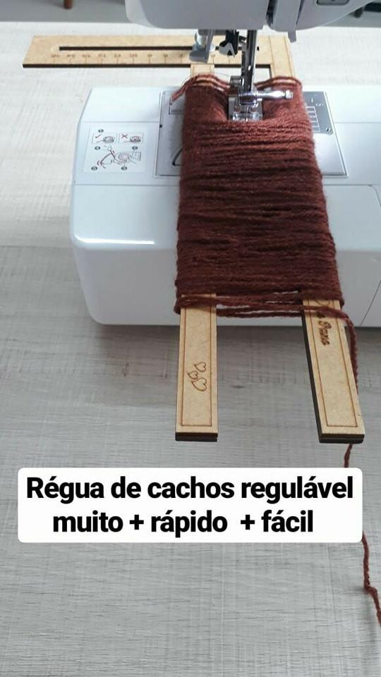 RÉGUA CABELO CACHEADO REGULÁVEL ( 30 X 15 CM)