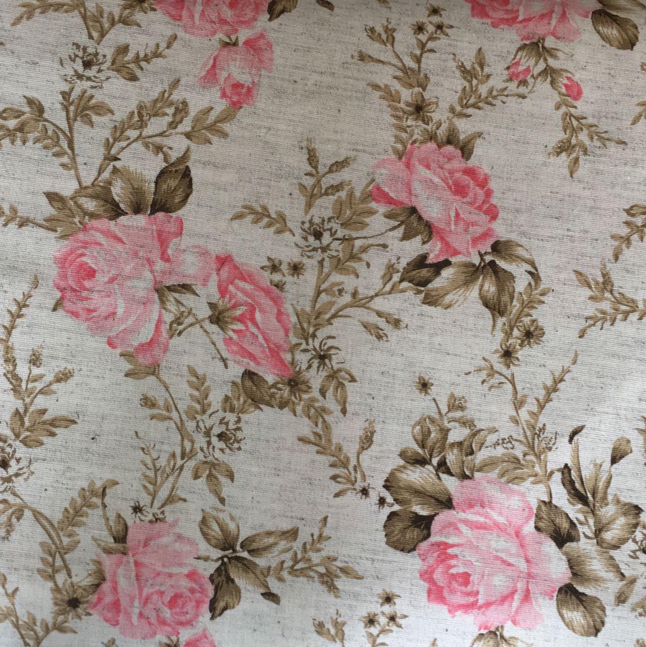 Tecido Linho - Floral Grande