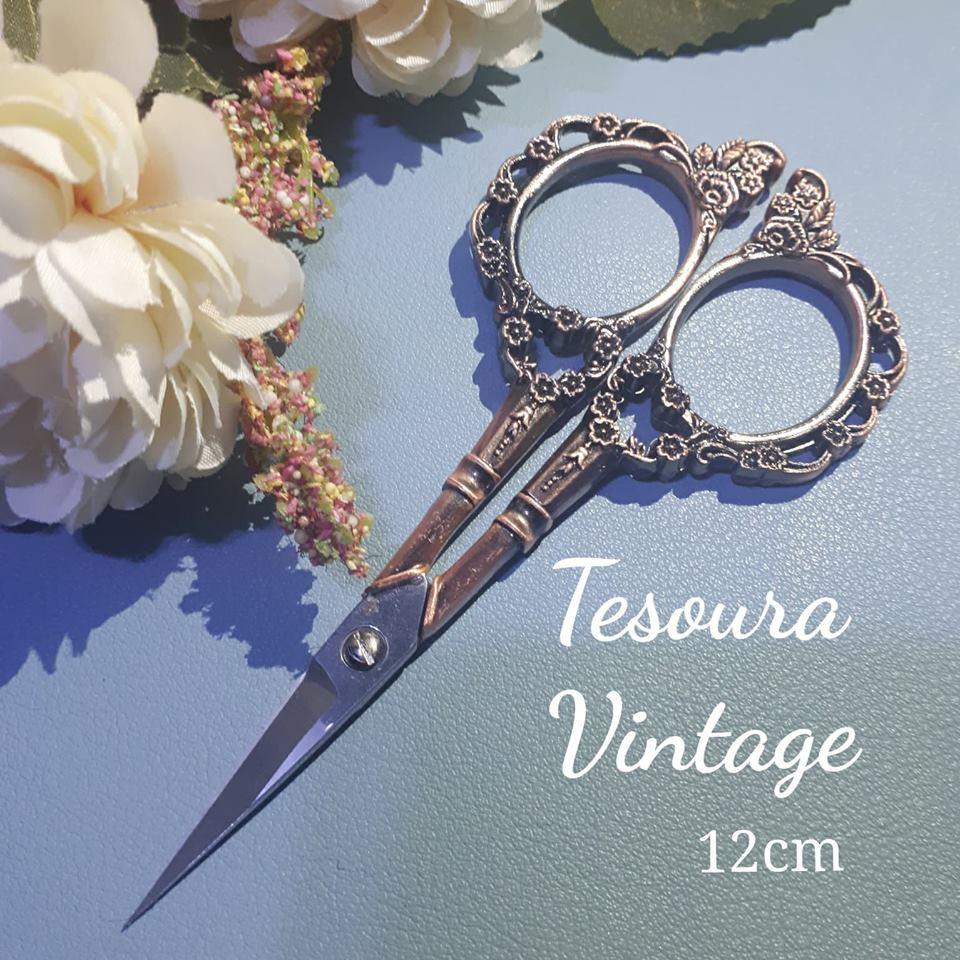 Tesoura Vintage - 12cm - Linda e Útil