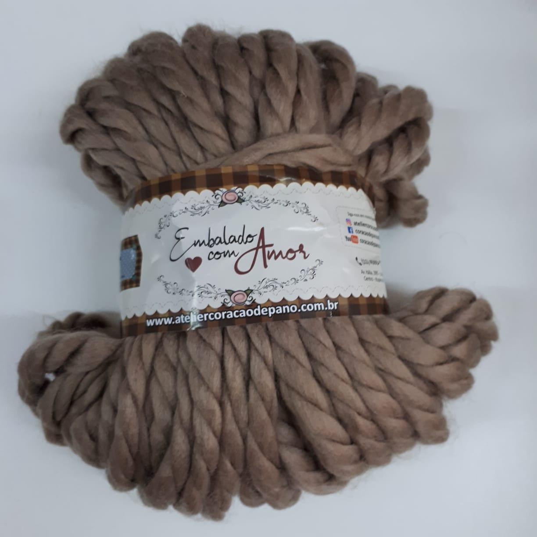 Lã Trançada II - Castanho Claro