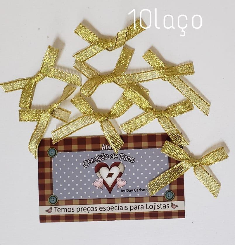 Laços Dourado - 10 unidades