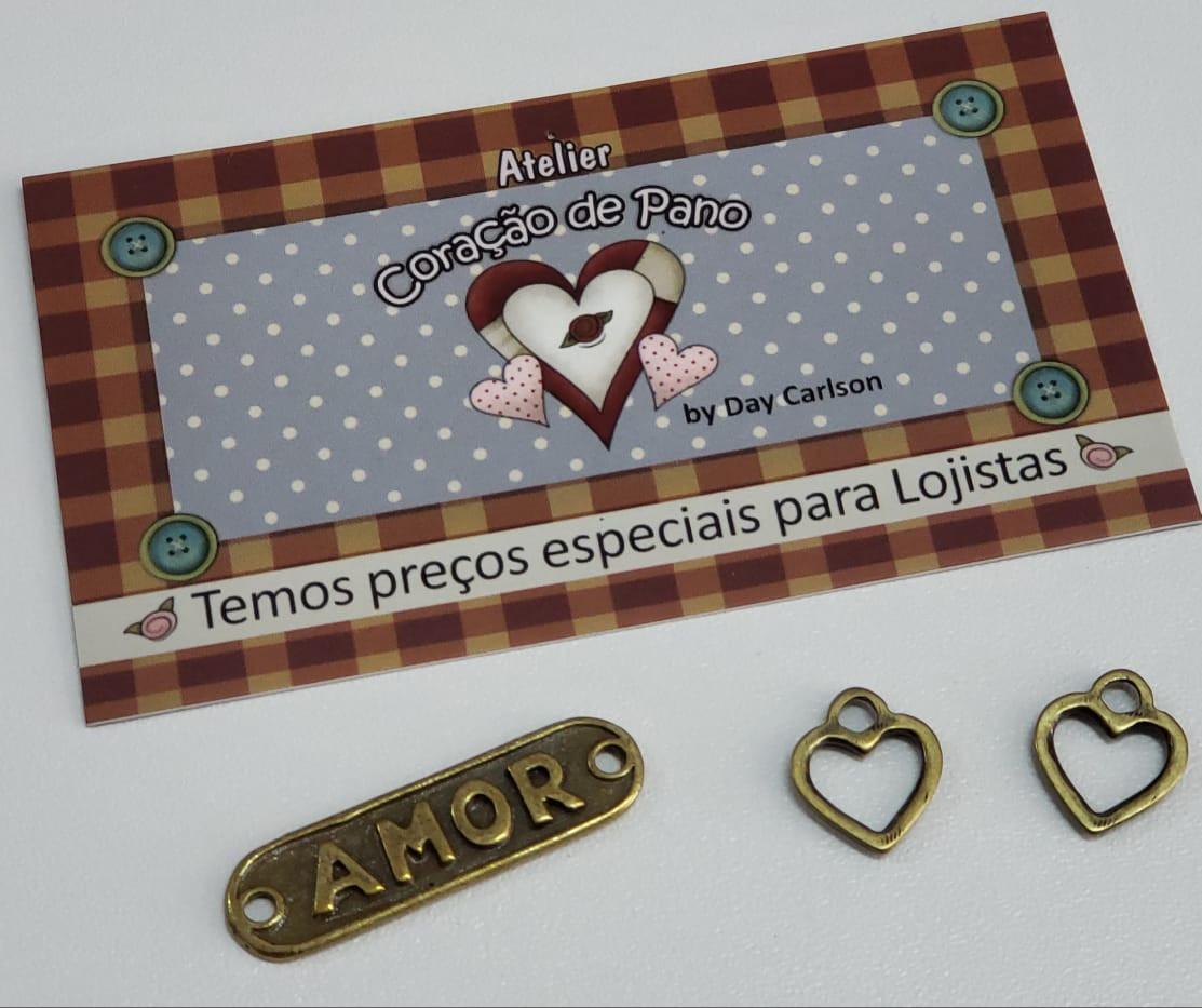 Pingente Amor e Corações (3 un)