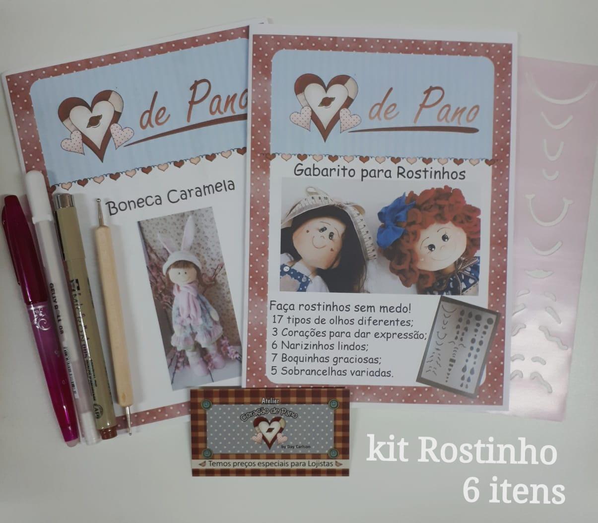 Kit Boneca Rostinho - 6 itens