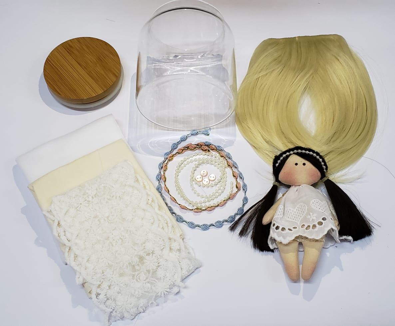 KIT Material Boneca Carola (COM MOLDE DO CORPO) - Loiro Platinado
