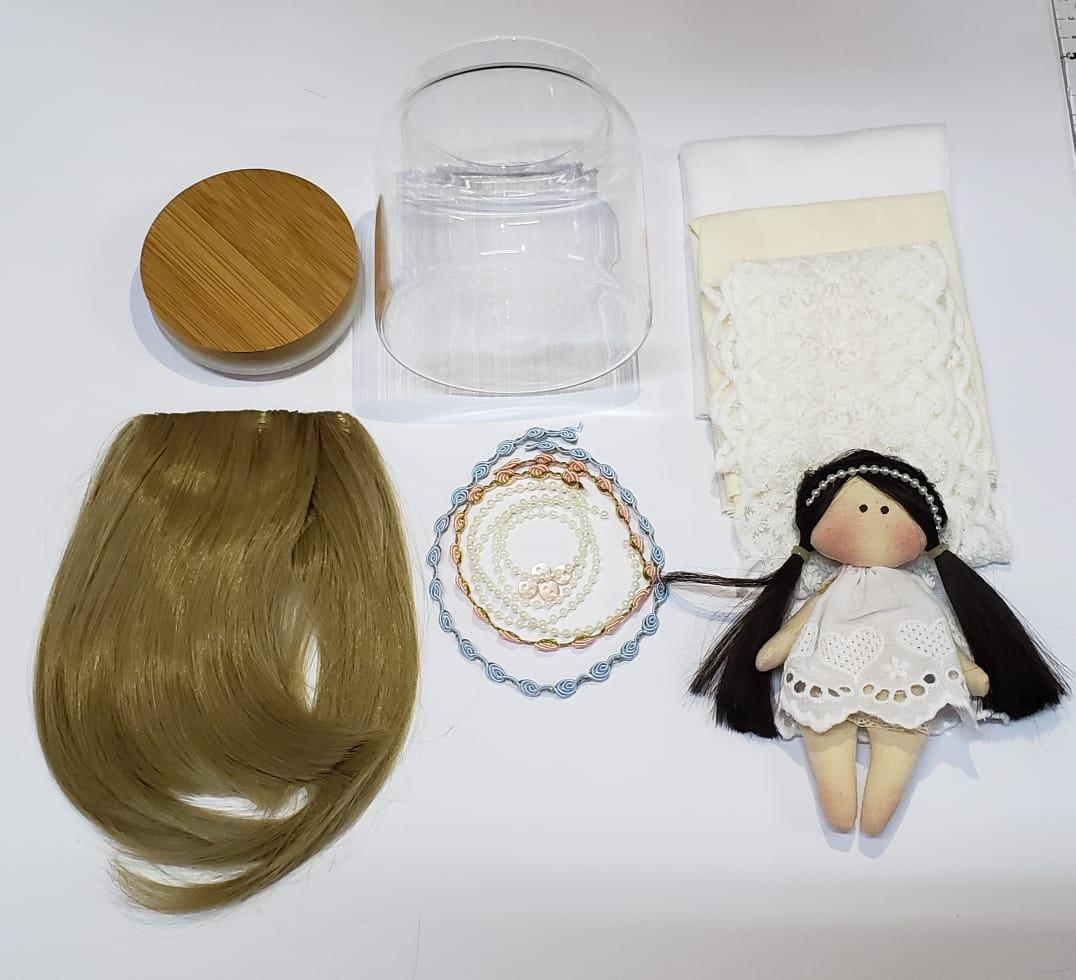 KIT Material Boneca Carola (COM MOLDE DO CORPO) - Loiro Escuro