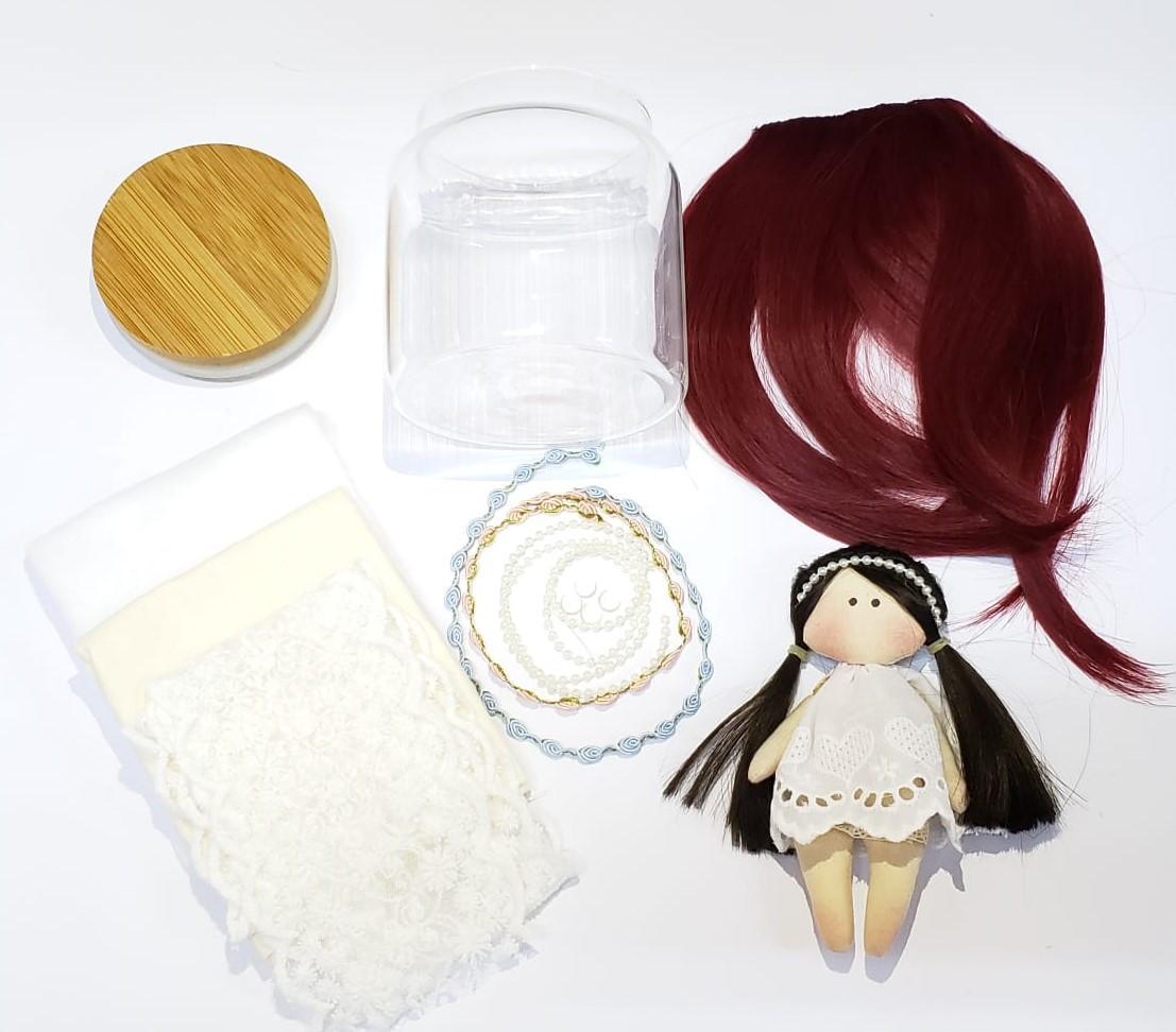 KIT Material Boneca Carola (COM MOLDE DO CORPO) - Ruiva