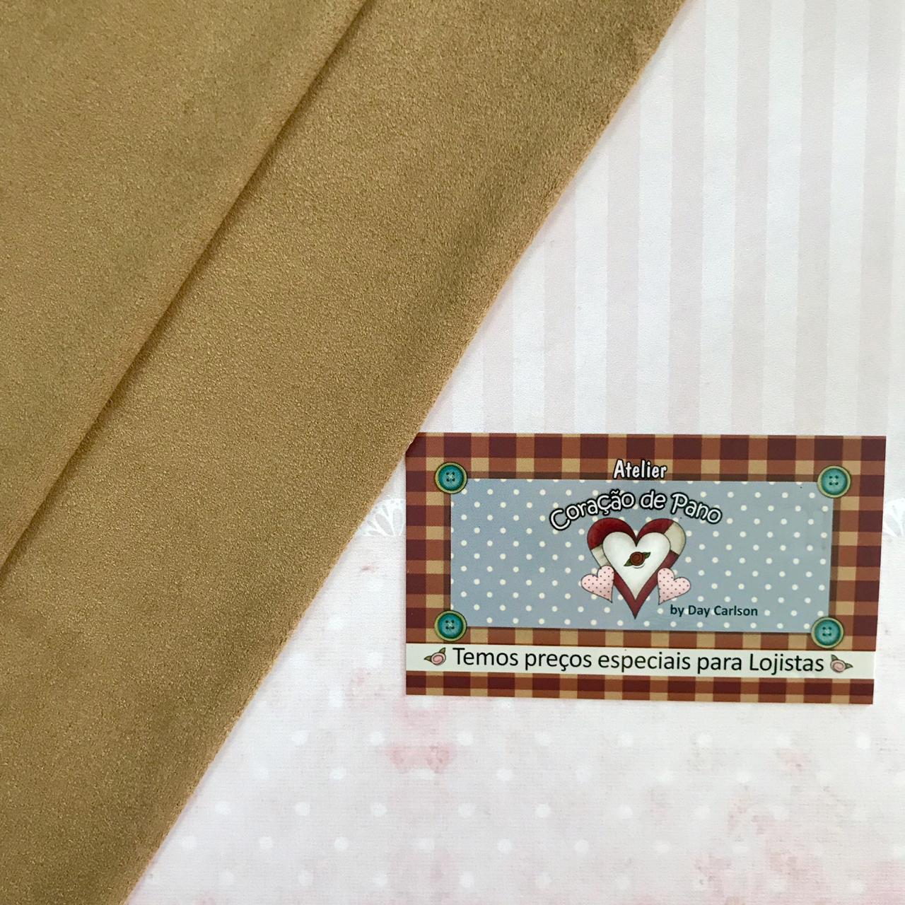 Tecido Suede Caramelo Claro - (50 X 80 CM)