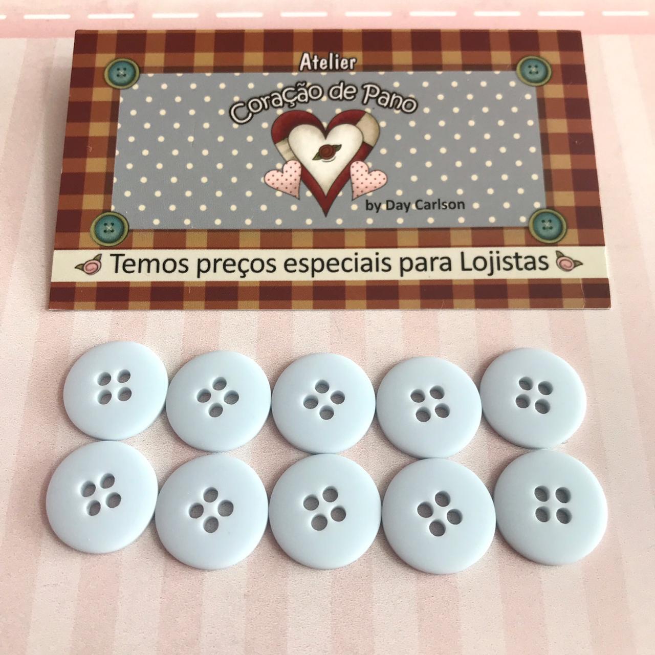 Botão Azul - 10 un (1,5 cm)
