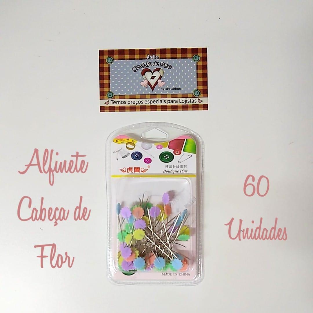 ALFINETE CABEÇA DE FLOR - 60 UNIDADES