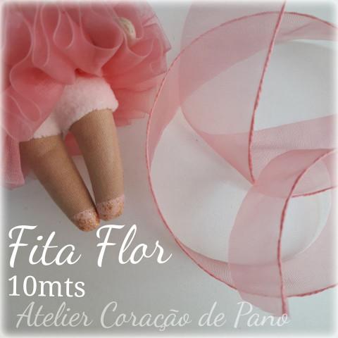 Fita Flor - Rose (para TUTU de bailarina)
