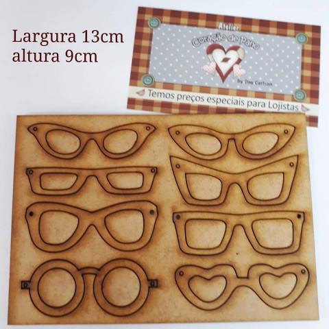 Placa com 8 Óculos em MDF - M