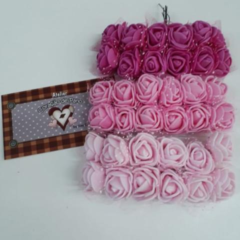 3 Bouquet's de Flores de EVA - Tons de Rosa