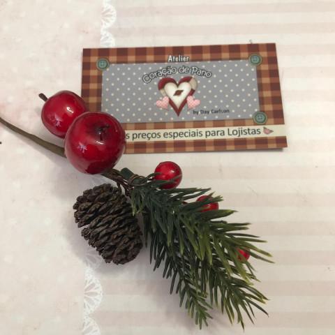Folhagens de Natal VIII - Mini Maçãs e Pinha 12cm