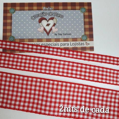 Kit Fita Xadrez - Vermelho (2 mt cada)