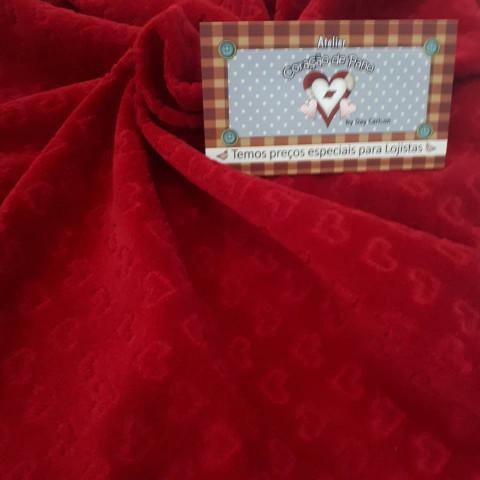 Plush - Vermelho com coração - 50x80cm