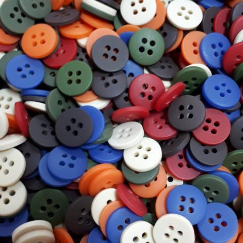 Botão Colorido - Country - 40 unidades