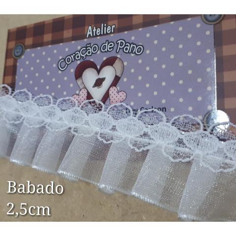 Babado franzido - 1mt