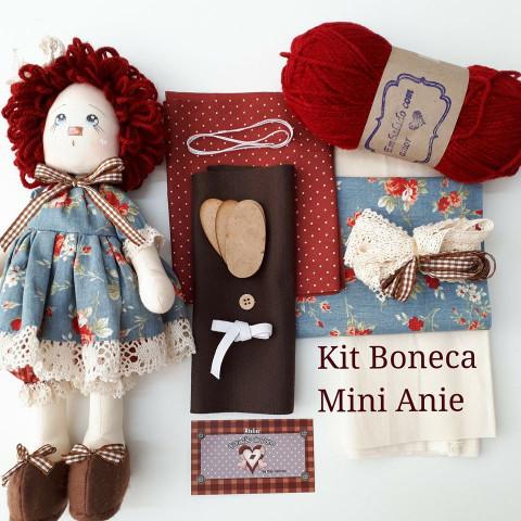 Kit - Boneca Mini Annie (Projeto e Material)