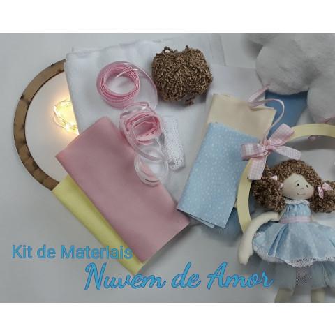 Kit de Materiais (sem projeto)- Boneca Nuvem de AMOR