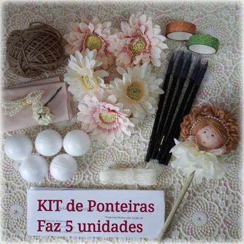 KIT de Material 5 Ponteiras de bonecas