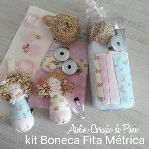 KIT de Material para 2 Bonecas Fita Métricas