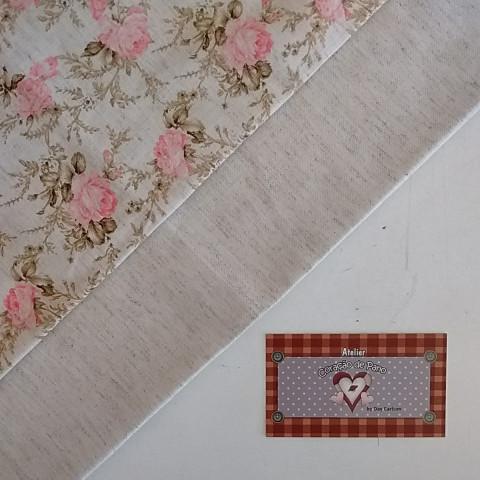 Kit Linho Coordenado - Floral Grande