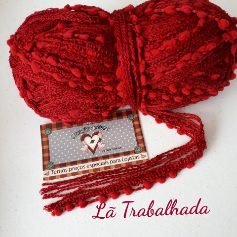 Lã Multiuso - Vermelho Trabalhado