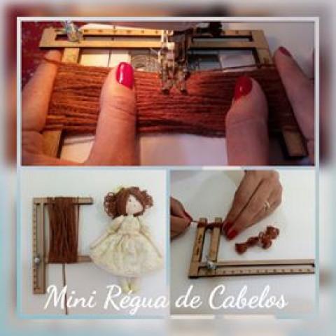 Mini Régua para Cabelo de Boneca