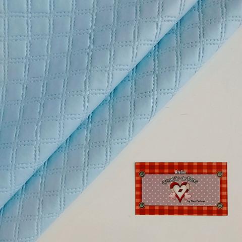 Plástico PVC - Azul Matelassado