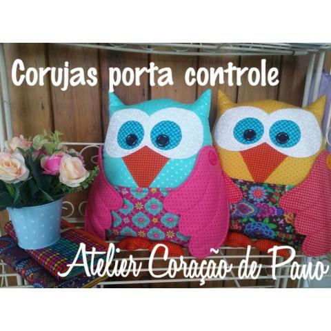 Projeto Almofada Coruja porta controle (via Correios)