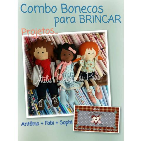 Projeto Digital - Combo 3 projetos - Bonecos de Brincar (