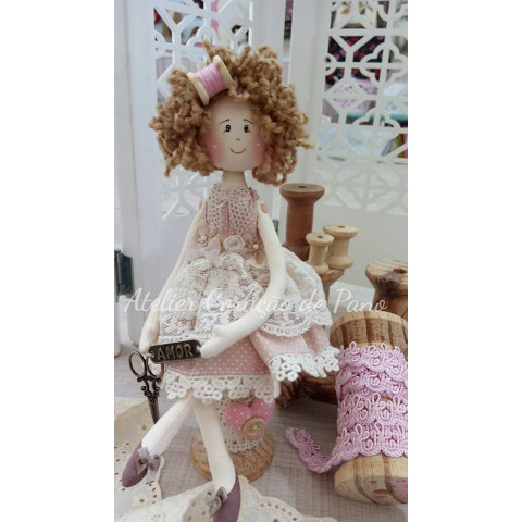 Projeto Digital - MIni Boneca Costureira (digital)