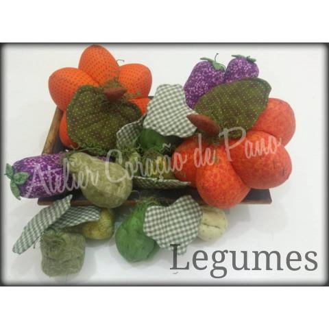 Projeto Legumes de Tecido (via Correios)
