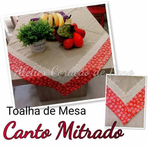 Projeto via correio - Toalha de Mesa Canto Mitrado