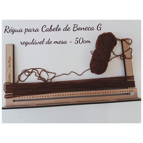 RÉGUA PARA CABELO DE BONECA G (50CM)