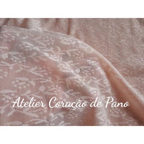 Renda Especial - Flores Rosa - 1,00mt x 1,60