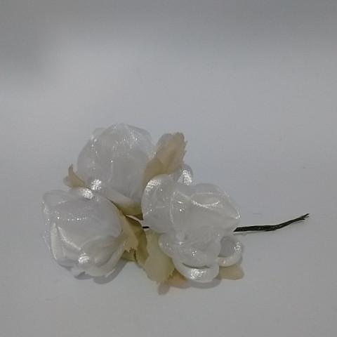 Rosa de Voal - Branco