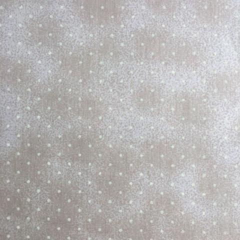 Tecido Estampado - 0,50cm x 1,4cm - Poeirinha com Bolinhas