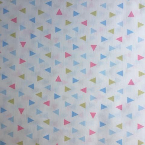 Tecido Estampado - 0,50cm x 1,4cm - Triangulos Coloridos