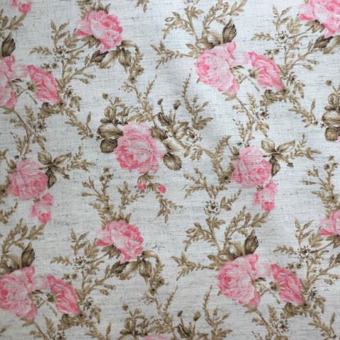 Tecido Linho - Floral Médio